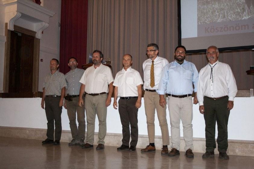 A konferencia előadói (balról jobbra): Farkas Tibor, Gombkötő Péter, Dr. Heltai Miklós, Horváth Mihály, Dr. Varga Gyula, Hajas Péter, Dr. Lehotzky Pál